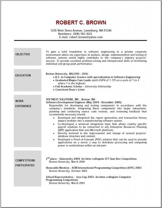 It Resume Objective Resume Samples Pinterest Resume objective - scholarship resume objective