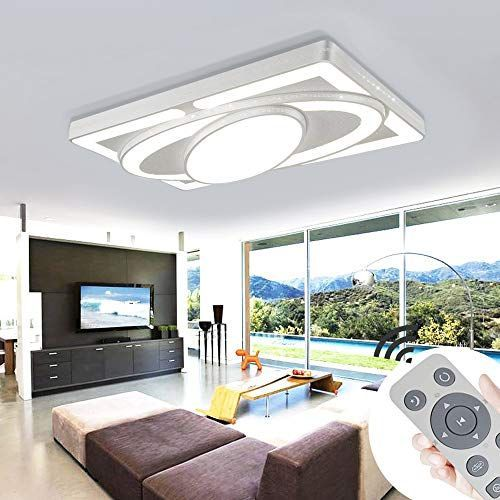 Deckenleuchte Led Deckenleuchte 64w Wohnzimmer Lampe Moderne Deckenleuchten Kuche Bad Flur Schlafz In 2020 Moderne Deckenleuchten Deckenlampe Led Deckenleuchte Dimmbar