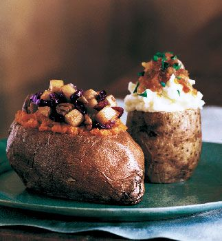 Baked Sweet Potatoes Stuffed with Cranberries, Pears, and Pecans from Epicurious