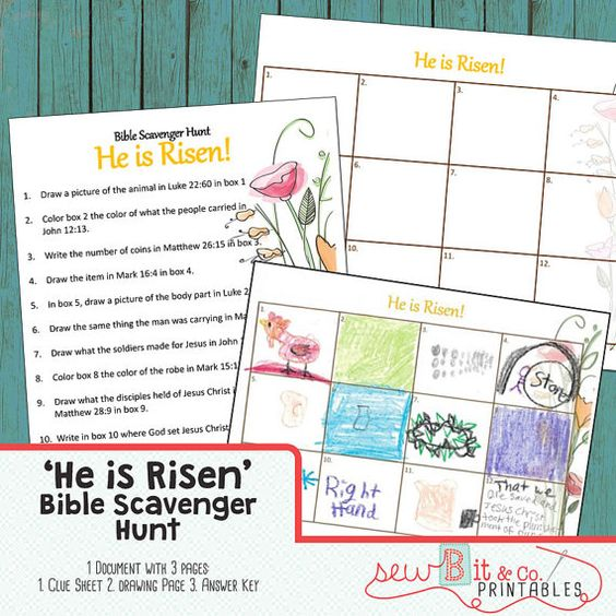 bible craft kit book scavenger hunt he is risen crafts craft kits and book scavenger hunt. Black Bedroom Furniture Sets. Home Design Ideas
