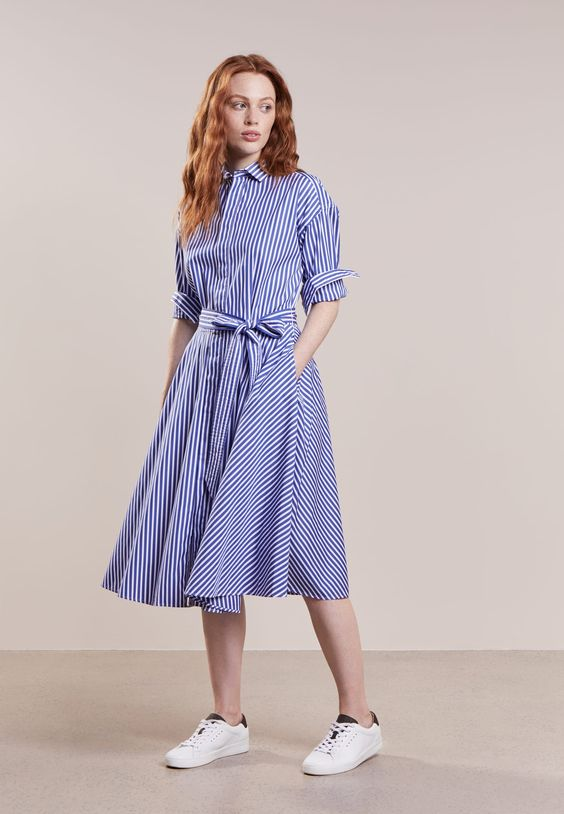 Polo Ralph Lauren Sukienka Koszulowa Fall Blue White Zalando Pl