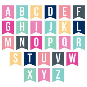 Silhouette Design Store View Design 142028 Banner Alphabet Free Printable Alphabet Letters Birthday Banner Free Printable Printable Alphabet Letters