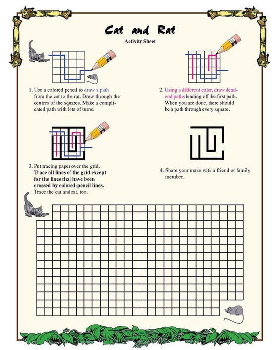Cat And Rat Geometry Worksheet For Kids Fun Math Worksheets Geometry Worksheets Math Worksheets