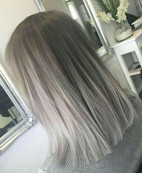 Spring Coloring With Gray Hair Tips