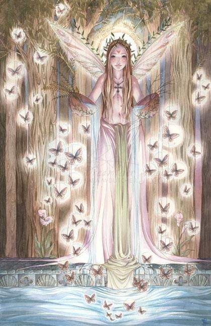 """Her Tranquility - Mythology Art But they that wait upon the Lord shall renew their strength; They shall mount up with wings as eagles."""" Isaiah 40:31"""