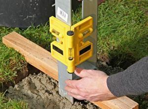 Pfostenanker Ausrichten Holzpfosten Pfosten Beton Anker