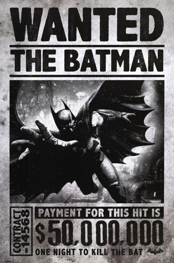 Batman Arkham Origins Wanted Posters Allposters Com Batman Poster Batman Arkham Origins Batman Arkham