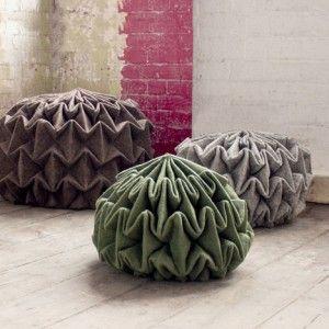 Jule Waibelu0027s Pine Cone Shaped Seats Are Made By Steam Folding Wool Felt