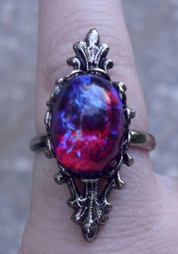 Vintage Gothic Dragon's Breath Ring...the newest addition to my obsessive ring collection! :)