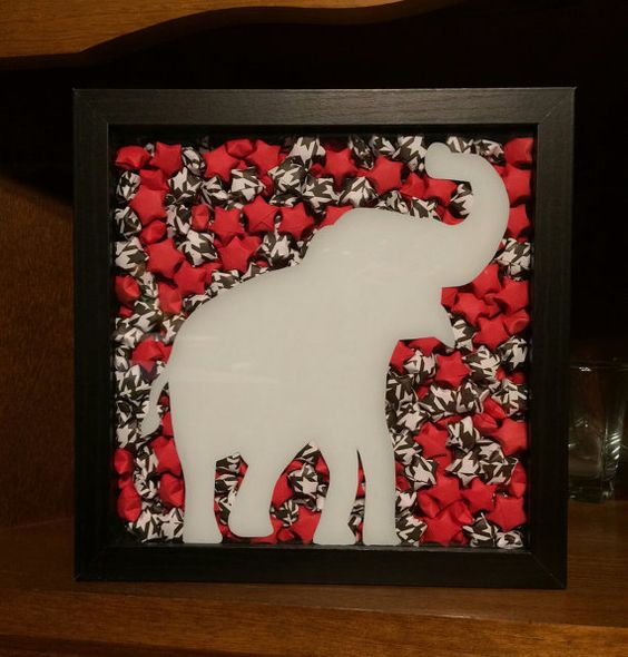 Back in stock!!! Check out this item in my Etsy shop https://www.etsy.com/listing/486001592/alabama-origami-shadowbox