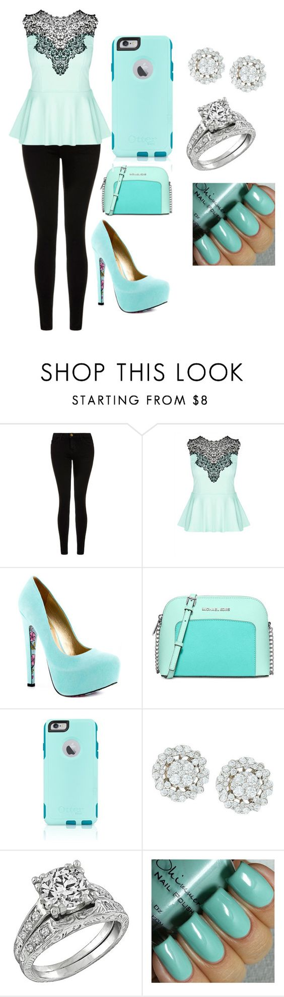 """""""Untitled #34"""" by lazandralaymon on Polyvore featuring Current/Elliott, City Chic, TaylorSays, Michael Kors, OtterBox, women's clothing, women's fashion, women, female and woman"""