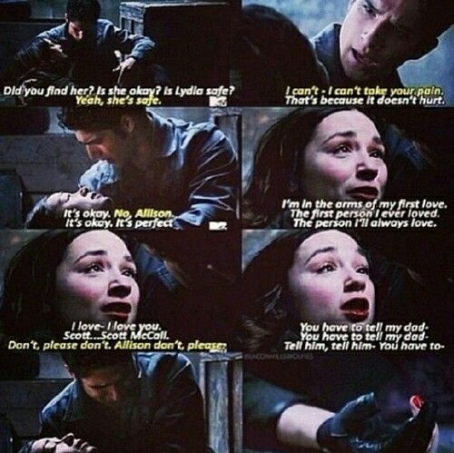 OH MY GOSH SUCH A TERRIBLE SCENE!!!!! I HATE THAT SHE DIED!!!!! SO SAD!!!!!!! At least we know that she lived Scott!