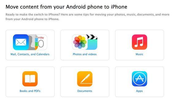 Android User: JETZT zum iPhone 6 umsteigen / wechseln! - https://apfeleimer.de/2014/09/android-user-jetzt-zum-iphone-6-umsteigenwechseln - Android Nutzer – seid Ihr bereit für das iPhone 6? Apple stellt nun für Android Nutzer einen Ratgeber zum Wechsel von Android zum iPhone 6 bereit und erklärt wie man von einem Android Smartphone am besten zum iPhone wechselt und dabei Fotos, Bilder und Videos, Kontakte und Emails, Musik ve...