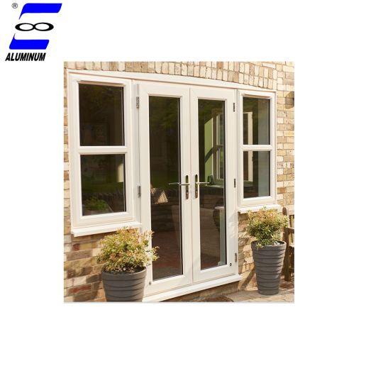 Guangdong Aluminum Broken Bridge Frame Casement Entry Door With Awning Opening Glass Window Entry Doors Casement Window Accessories