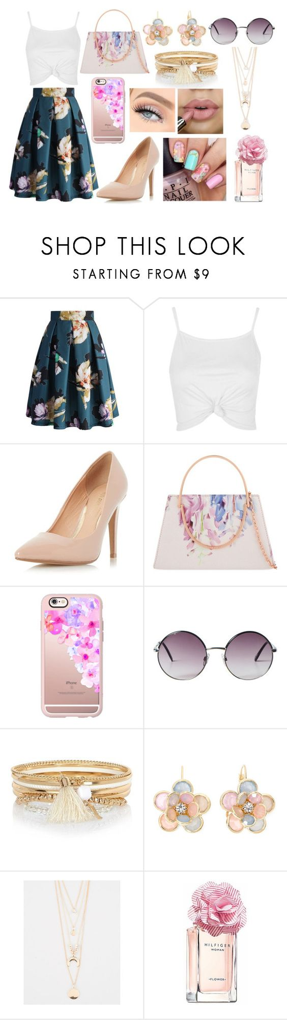 """""""Untitled #8"""" by maryamy565 ❤ liked on Polyvore featuring Chicwish, Topshop, Dorothy Perkins, Ted Baker, Casetify, Monki, River Island, Mixit, Full Tilt and Tommy Hilfiger"""