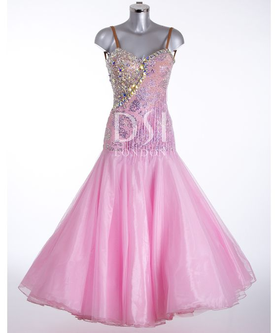 373679 Rse Pink Ballroom Dress  Ballroom dresses for sale  Dance ...
