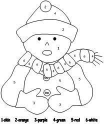 color number winter worksheets dudeindisneycom worksheet