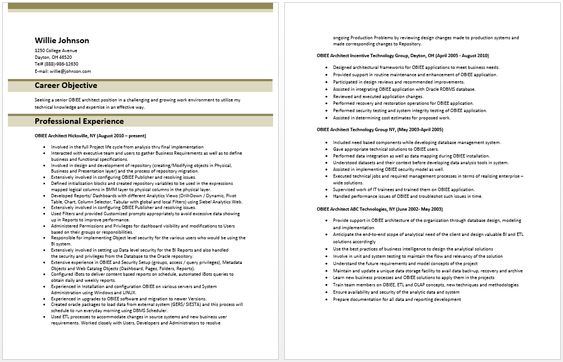 Army Consultant Resume Sample Resumes Army resume Pinterest - data architect resume