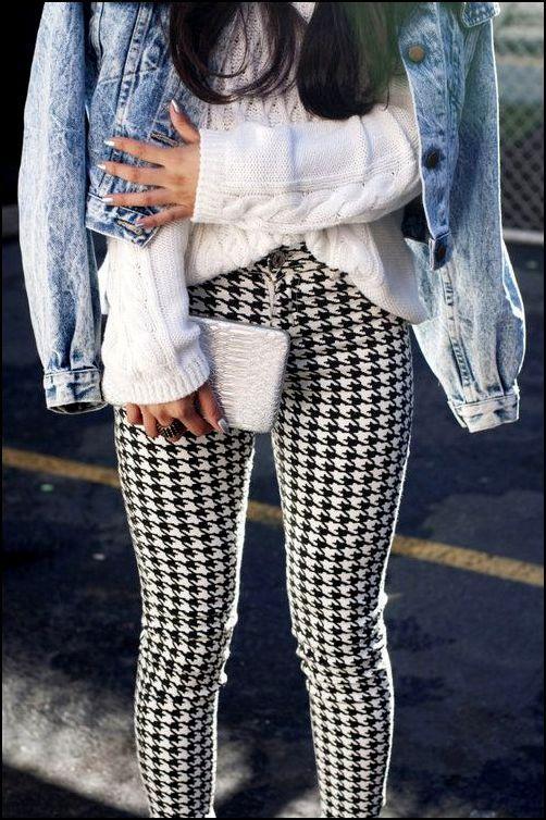spodnie pepitka stylizacja: