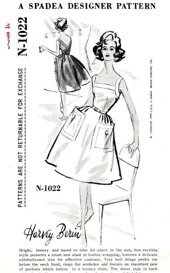 1960s Bust 34 Spadea Misses Dress Harvey Berin by OpalsOwlVintage, $22.00