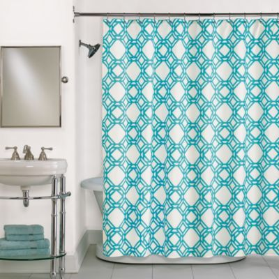 Kitchen Curtains bed bath beyond kitchen curtains : teal fabric shower curtain | Buy Teal Fabric for Curtains from Bed ...