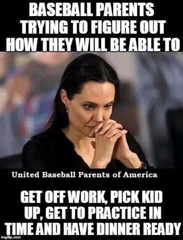 Baseball parents! So us!!! Lol!