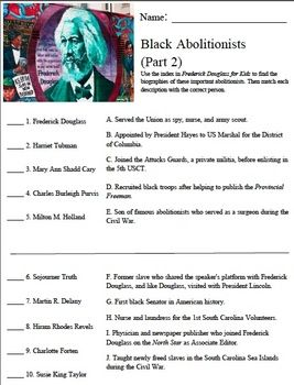 Printables Frederick Douglass Worksheet frederick douglass worksheets and teaching on pinterest