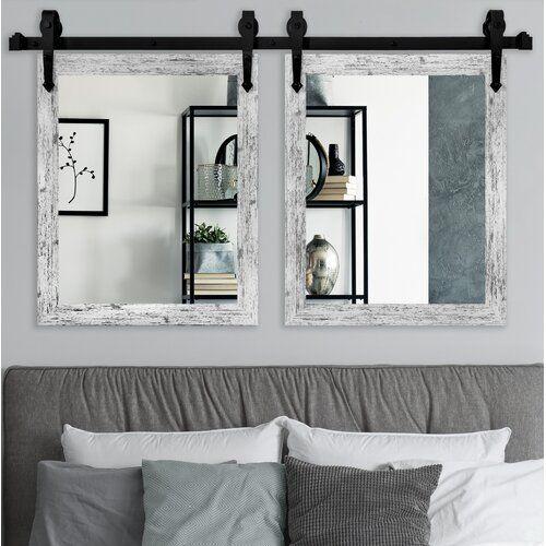 Wood Window Door Farmhouse Wall Decor Home Decor Mirror Set Decor