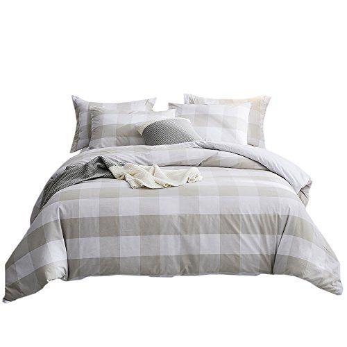 Merryfeel 100 Cotton Yarn Dyed Duvet Cover Set King Li Https Www Amazon Com Dp B01j5evgxg Ref Cm S Bed Linen Design Duvet Cover Sets Plaid Bedding Sets