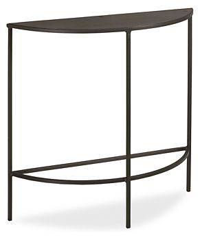 Slim Console Tables in Natural Steel - Console Tables - Living - Room & Board (30x10, 29h)
