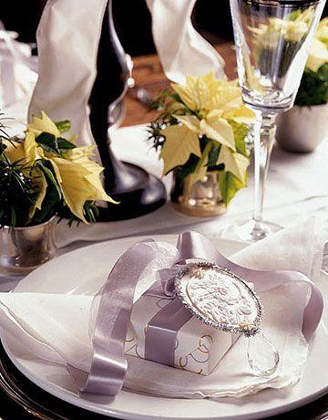 #Christmas Table Settings - Petit cadeau personnalisé pour Noël / décoration de table
