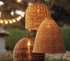 outdoor lighting via pottery barn