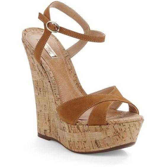Schutz Emiliana Platform Sandal Wedge ($90) ❤ liked on Polyvore ...
