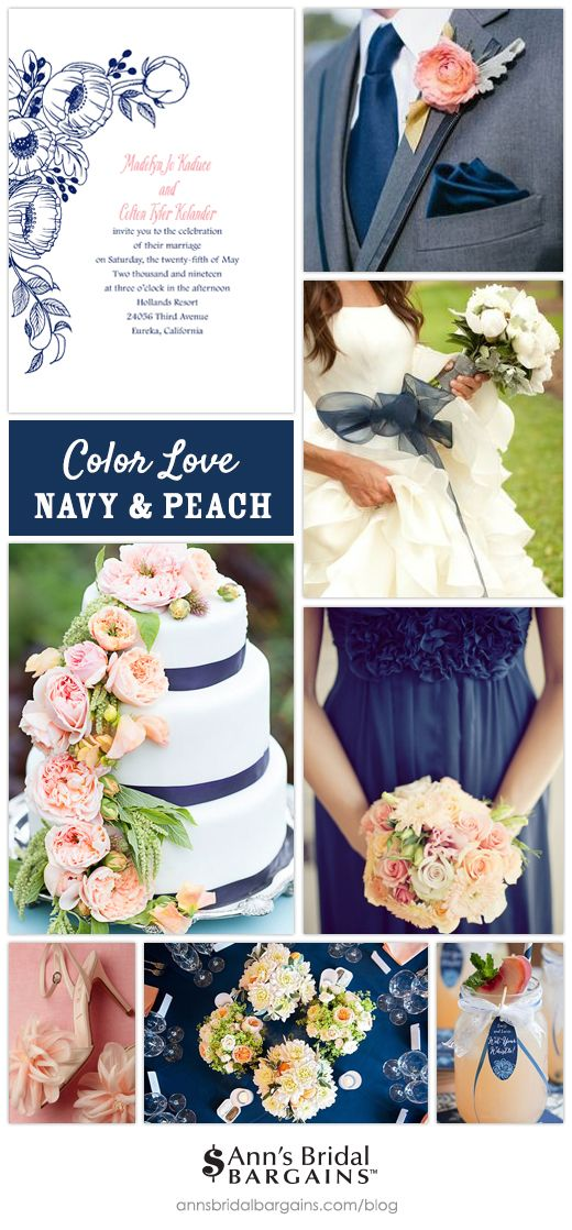 Navy and Peach Wedding Colors