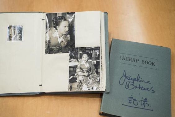 "Scrapbook of famed Harlem Renaissance diva Josephine Baker. Image from ""Schomburg Center celebrates 90th anniversary with special display dedicated to black achievement"" story by Ginger Adams Otis NEW YORK DAILY NEWS Saturday, September 26, 2015, 10:10"