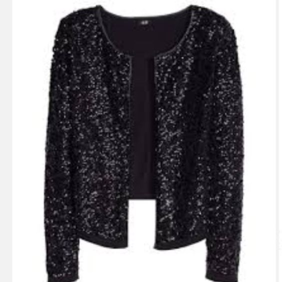 Eileen Fisher Sequin Cardigan Size M Black Sweater 100% Merino ...