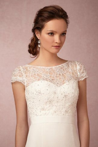absolutely love the Luciana Topper from BHLDN  takes a plain ...