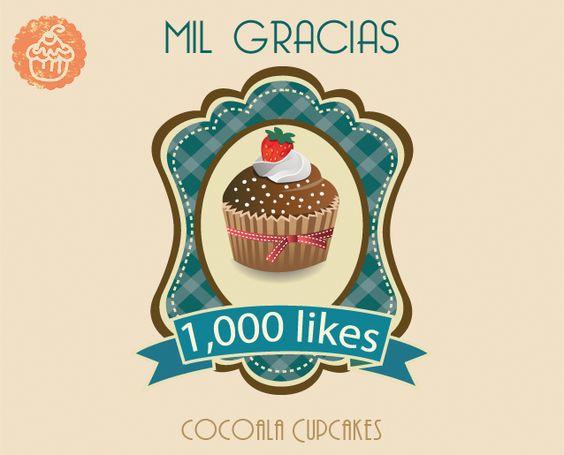 Mil Gracias  1,000 Likes en Cocoala CupCakes  Queremos agradecer a todos por su confianza y sus pedidos. A sido una aventura bastante sabrosa y la verdad nos encanta hacer lo que nos gusta y complacer cada a cada uno con sus gustos y antojos.  Y vamos por más