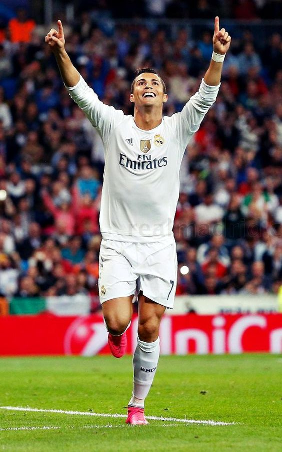Cristiano Ronaldo Real Madrid #CR7. Honestly, biggest baby ever to step on a field... but a good player.