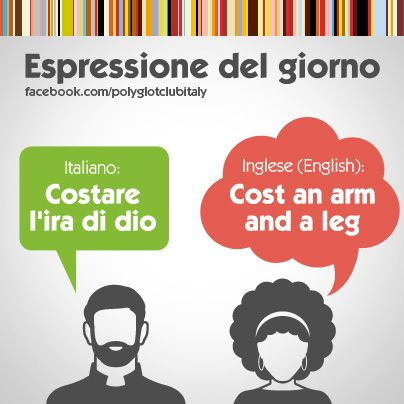 Learning Italian Language ~ English / Italian idiom: Cost an arm and a leg. Cuesta un ojo de la cara