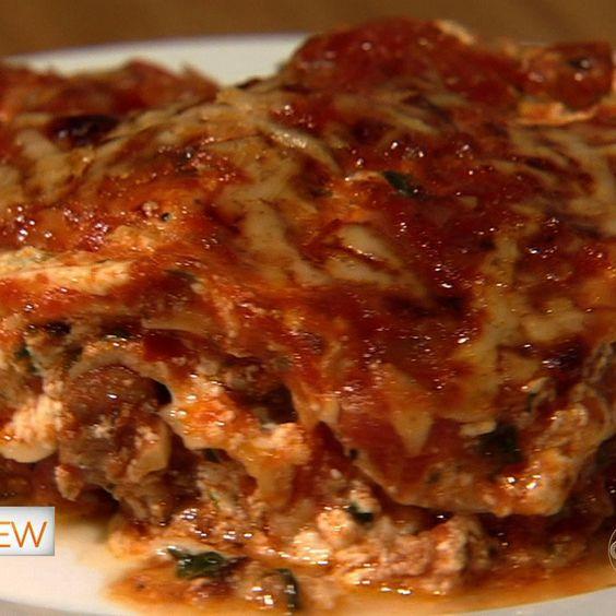 the chew   Recipe   Joy Behar's Lasagna