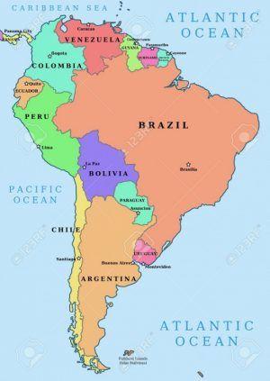 Mapas De Los 5 Continentes Con Paises Y Capitales Mapa De