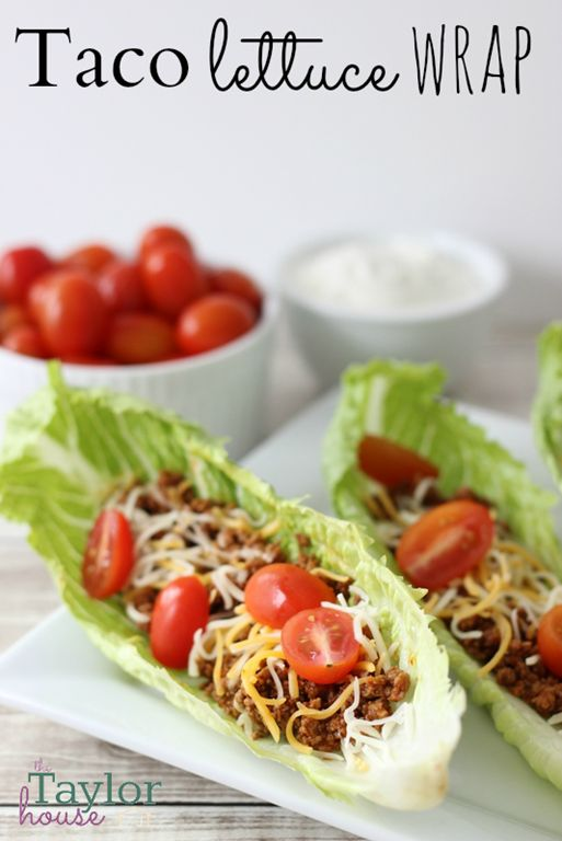 Taco Lettuce Wrap Recipe | Taco Lettuce Wraps, Tacos and Lettuce Wraps