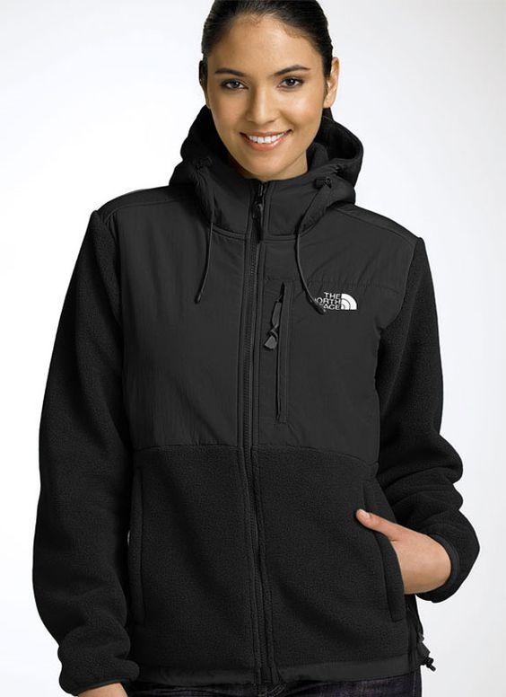 The North Face Denali Hoodie Jacket in Black