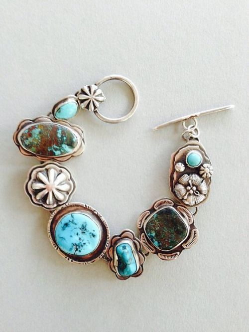 Treasure Bracelets Are An Eclectic Collection Of Treasure From My Stash Of Stones And Other Goodie Whole Turquoise Jewelry Jewelry Design Popular Jewelry