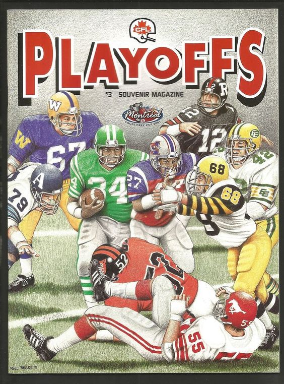 2001 cfl #Football playoff program b.c. lions at calgary stampeders nov 11 from $0.99