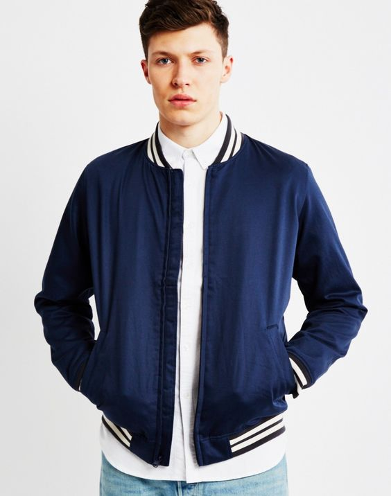 Levi's Good Level Bomber Jacket Blue | Shop men's jackets, coats ...