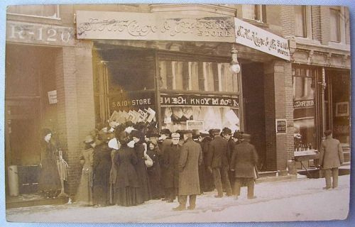 S h knox five dime store vintage 1912 rppc postcard Five and dime stores history