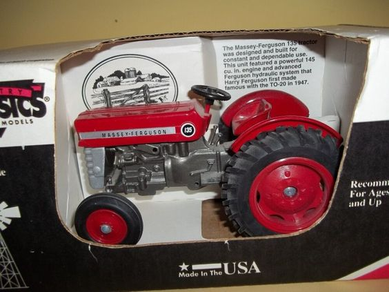 Metal Toy Tractors >> Massey Ferguson 135 Scale Models Tractor 1/16 Die Cast farm toy Made in USA #ScaleModels # ...