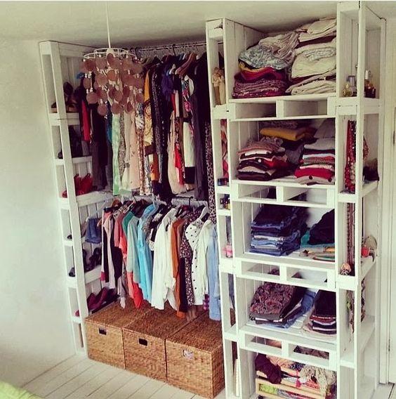 Artesanatos Reciclagem: Reciclagem de pallets closet reciclado: